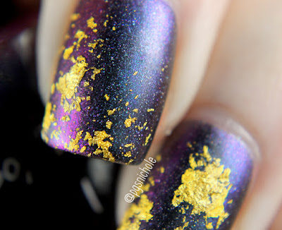 CrowsToes Nail Color + Octopus Party Nail Lacquer | Gold and Multichrome Abstract