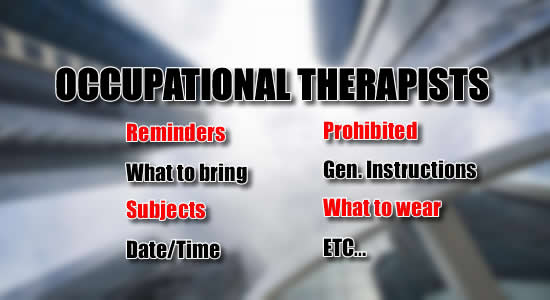 Occupational Therapists Exam: List of Reminders, What to Bring, Date, Time Subjects of Exam