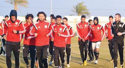 المنتخب المصرى لكرة القدم ينهى الاستعدادات من اجل لقاء غينيا وديا على ملعب الدفاع الجوى بالاسكندريه