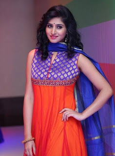 Varshini Sounderajan in Orange Chridar