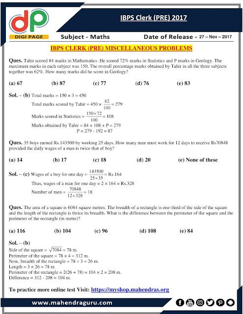 DP | Strategy For IBPS Clerk (PRE) | 27 - Nov - 17