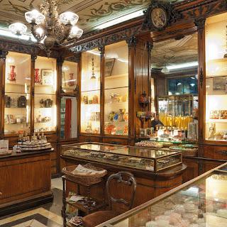 The ornate interior of the Romanengo store in Genoa