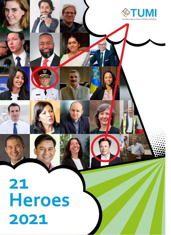 Anies Masuk 21 Heroes 2021 Karena Transformasi Kota, Sekelas dengan Elon Musk