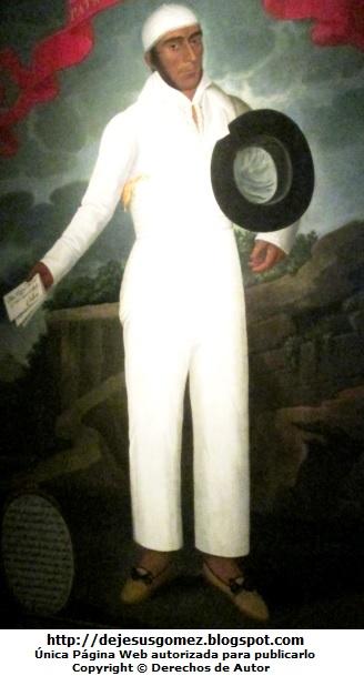 Retrato de José Olaya  (Pintura de José Olaya - Foto de José Olaya tomada por Jesus Gómez del Museo de Arte de Lima)