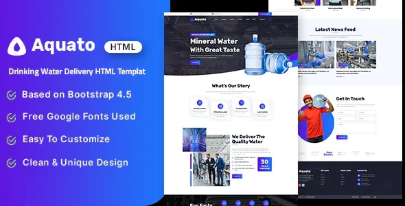 Best Drinking Water Delivery HTML Template