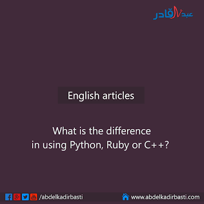 What is the difference in using Python, Ruby or C++