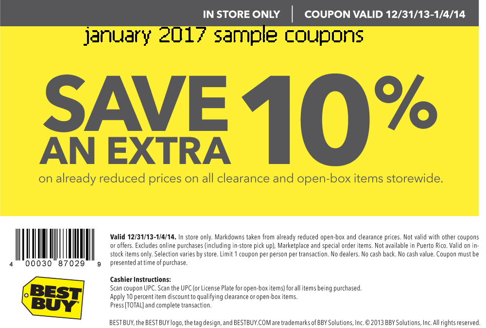 The best coupons