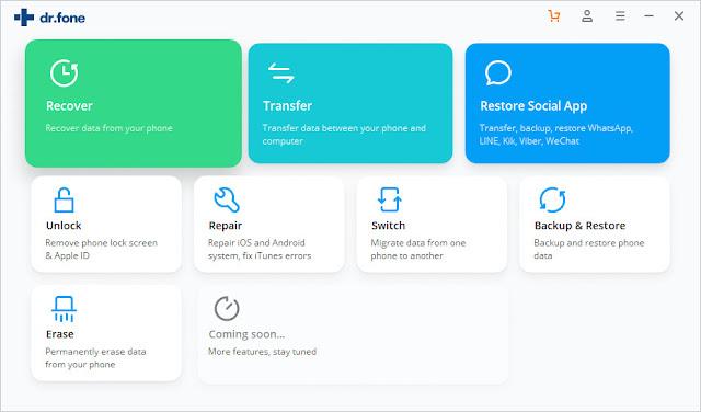 Screenshot Wondershare Dr.Fone Toolkit 10.0.1.54 Full Version
