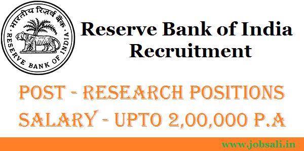 RBI Jobs, RBI Vacancy, RBI Career