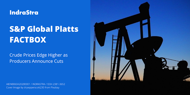 S&P Global Platts FACTBOX: Crude Prices Edge Higher as Producers Announce Cuts