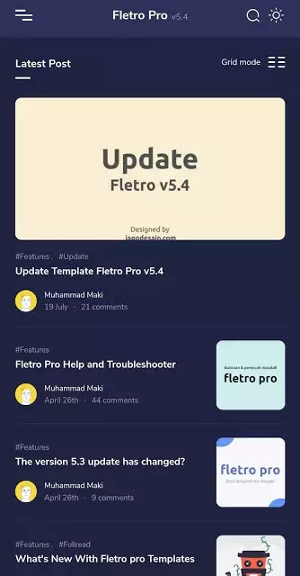 Fletro Pro V5.4 Responsive Blogger Template With Free Download