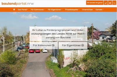 Startseite Baulandportal NRW