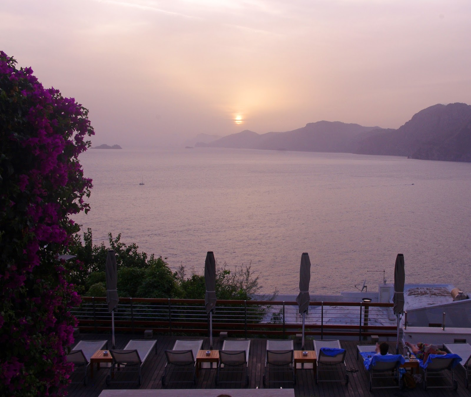 Sunset from Casa Angelina Praiano Italy