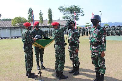 Latihan Pembentukan Raider Satuan Jajaran TNI AD Gelombang l TA. 2021 Secara Resmi Ditutup