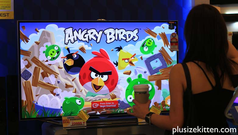 Plus Size Kitten: First Angry Birds TV Game App for Samsung