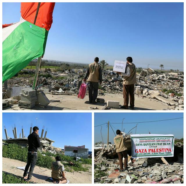 relawan FPI sebar bantuan umat islam indonesia di gaza palestina