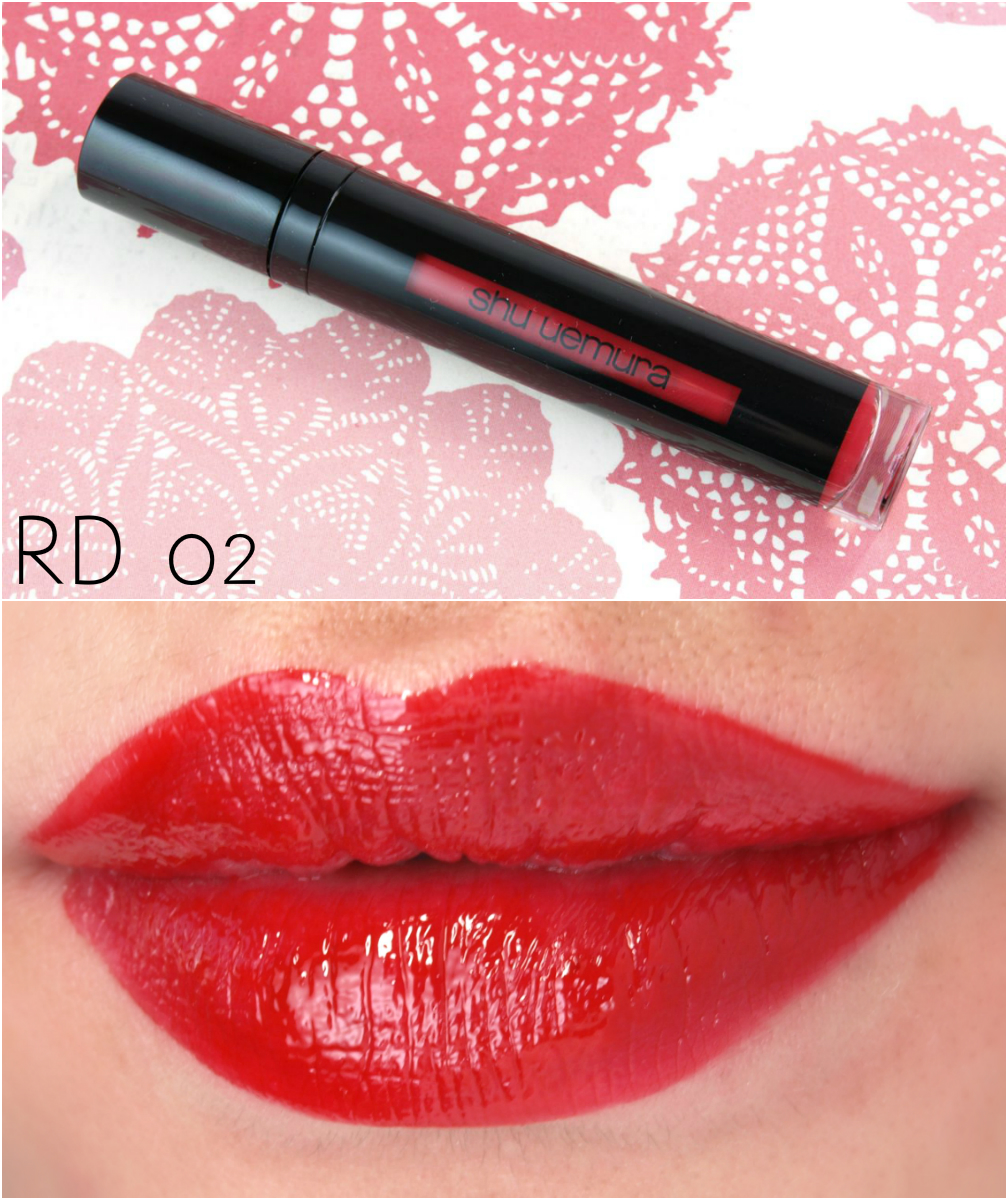 "Shu Uemura Laque Supreme in ""CR01"", ""WN02"", ""RD02"" & ""RD04"": Review and Swatches"