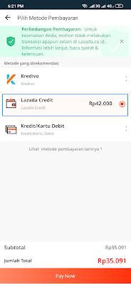 bayar tagihan lazada credit