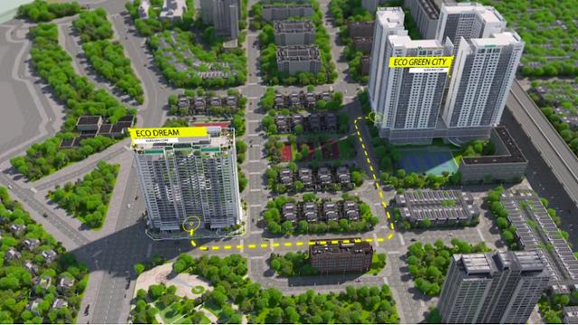 Eco Dream là 2 toà tiếp theo cùng chủ đầu tư với Eco Green City