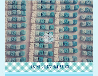 jabones personalizados nombre letras