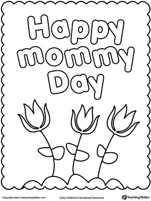 printable mother's day coloring pages printable