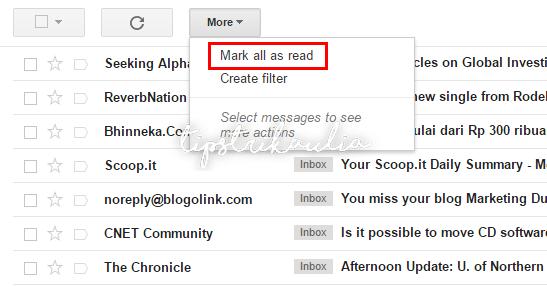 Cara Mark As Read Semua Email Tidak Terbaca di Gmail