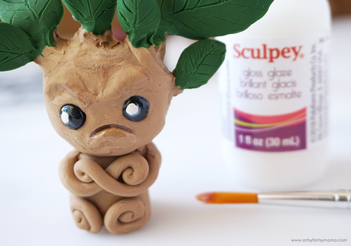 Mandrake with Sculpey Gloss Glaze