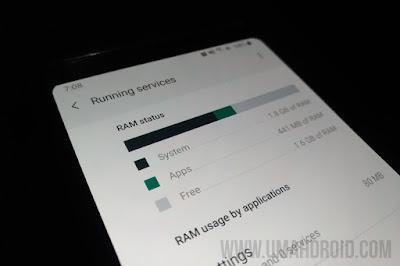 Tampilan Cek Pemakaian RAM Samsung