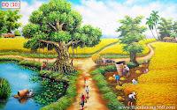 Tranh đồng quê đẹp