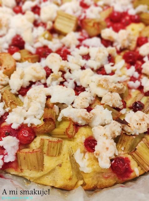 Ciasto rabarbarowo-porzeczkowe