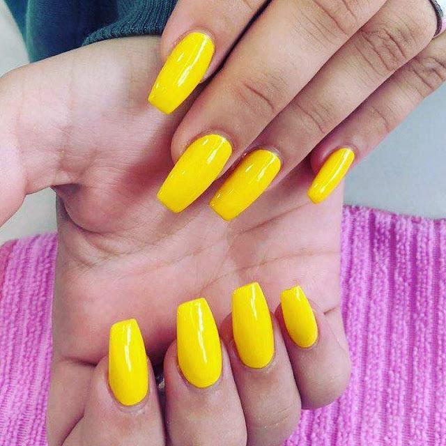 Yellow Nail Art Designs