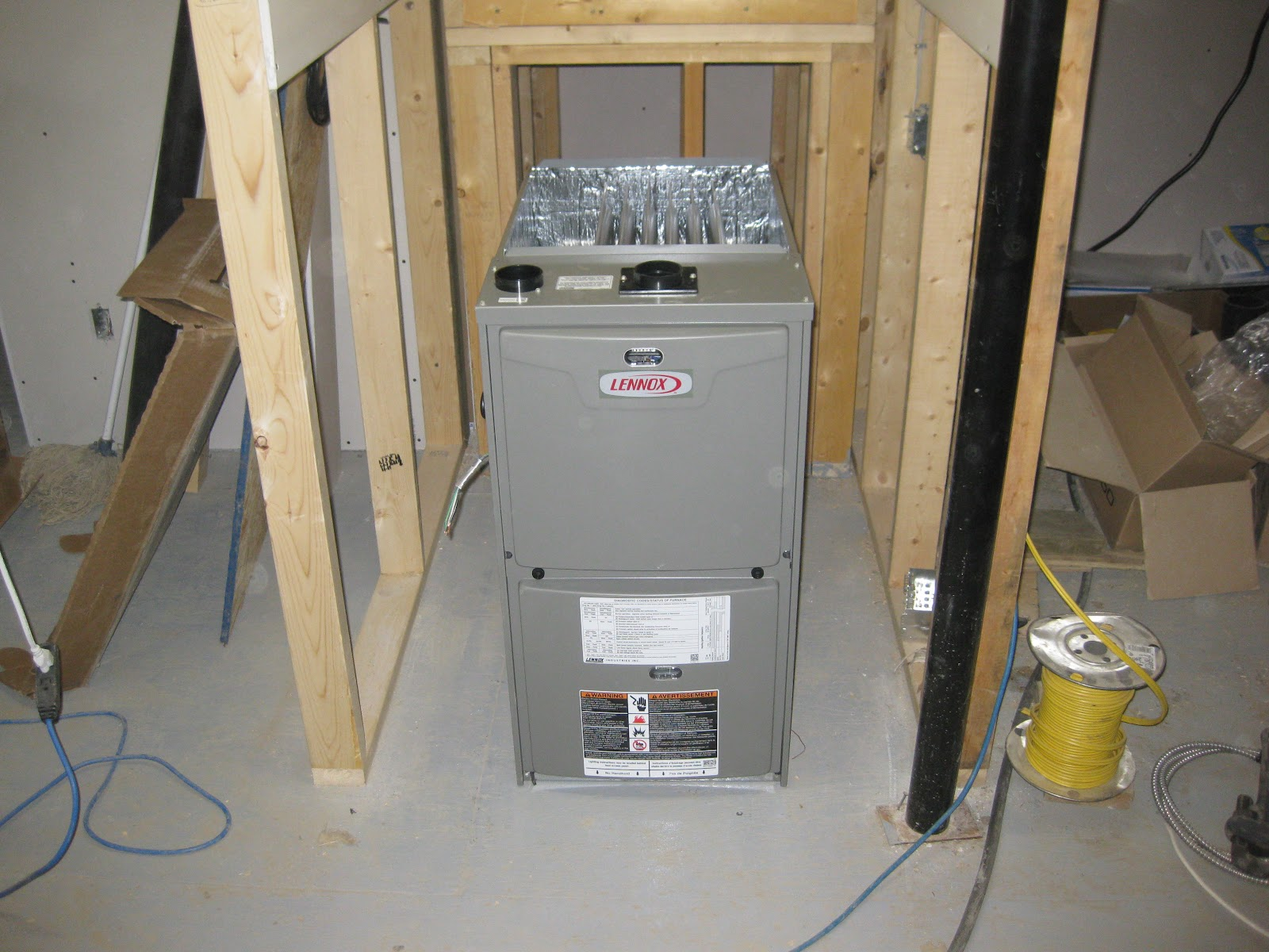 Simple man, simple plan.: Gas Line Test and New Furnace