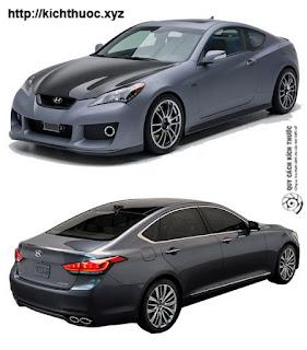 kich thuoc xe hyundai genesis coupe