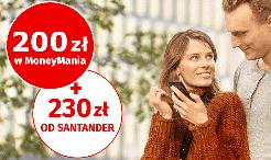 Nawet 430 zł za konto Santander