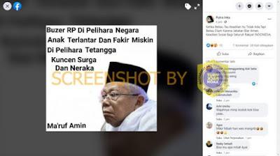 Maruf Amin: BuzzeRP Dipelihara Negara, Anak Terlantar dan Fakir Miskin Dipelihara Tetangga. CEK FAKTA