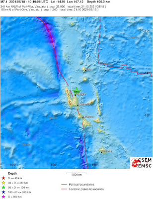 Tsunami warning issued after magnitude 6.8 earthquake strikes near Vanuatu