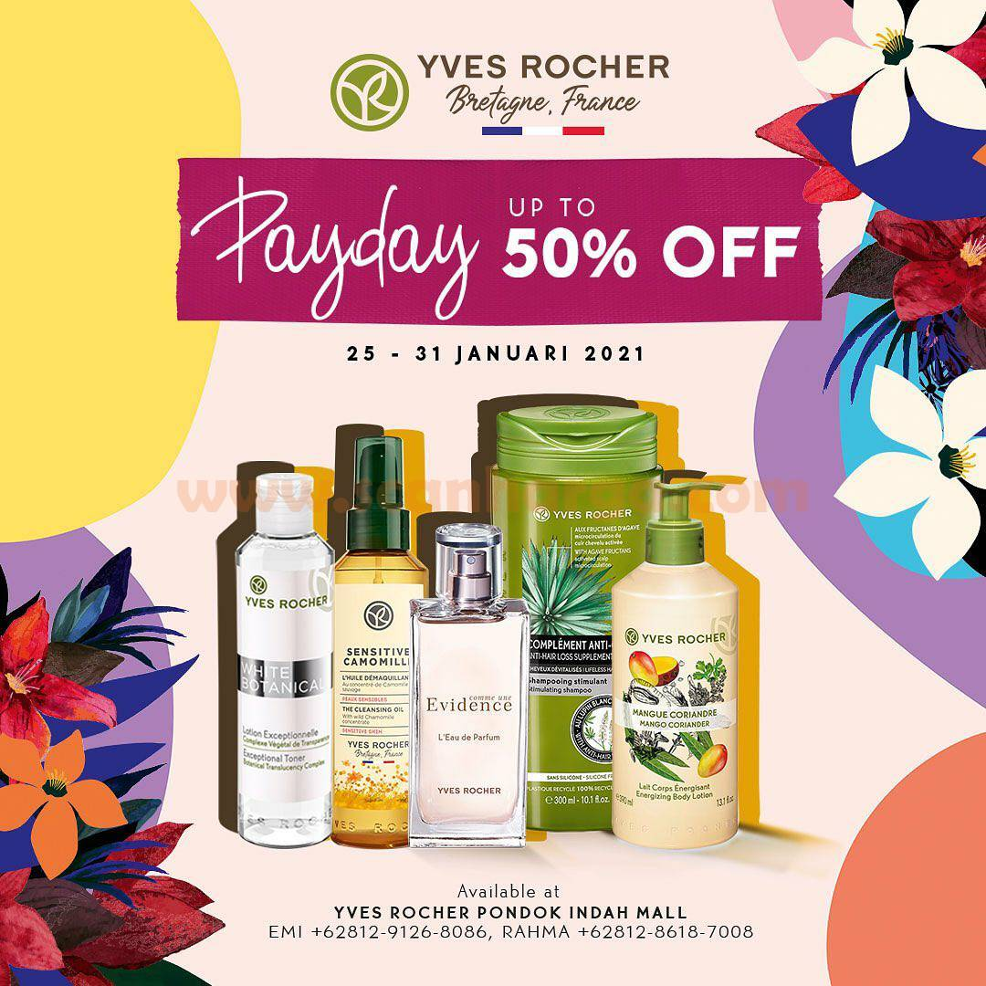 YVES ROCHER Special Promo PAYDAY! Discount up to 50 off