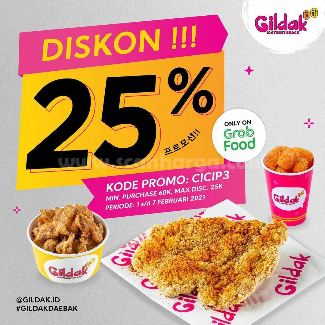GILDAK Spesial Promo GRABFOOD! Diskon hingga 25%