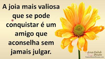 A joia mais valiosa que se pode conquistar é um amigo que aconselha sem jamais julgar.