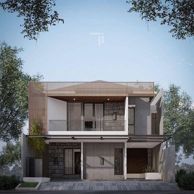 desain rumah minimalis elegan 2 lantai