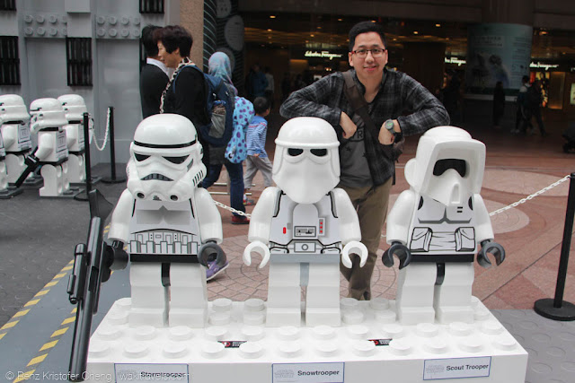 Renz Cheng with Star War Stormtroopers Lego