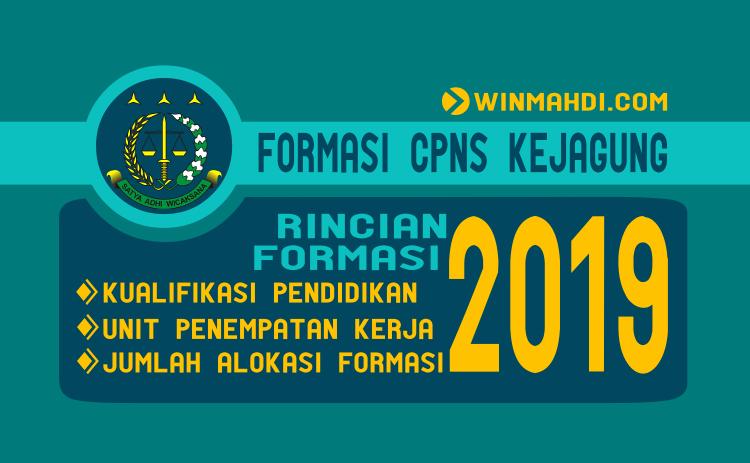 Daftar Formasi CPNS Kejagung Tahun 2019