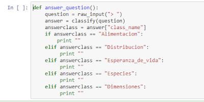 Para cada tipo de pregunta se genera un bucle if--print--efif.