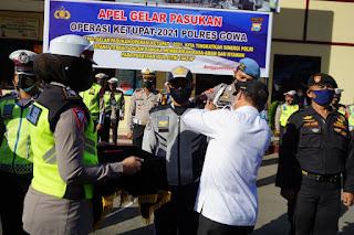 """Jelang Idul Fitri, Polres Gowa Gelar Pasukan """"Operasi Ketupat 2021"""""""