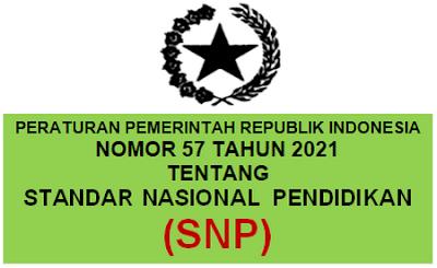 PP RI Nomor 57 Tahun 2021 Tentang Standar Nasional Pendidikan (SNP)