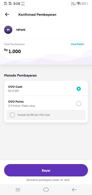 Pembayaran MPWR pakai OVO