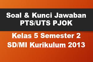 Soal dan Kunci Jawaban PTS/UTS PJOK Kelas 5 Semester 2 SD/MI Kurikulum 2013