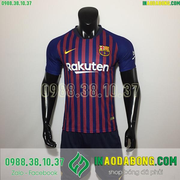 Áo bóng đá câu lạc bộ Barcelona sọc đỏ xanh