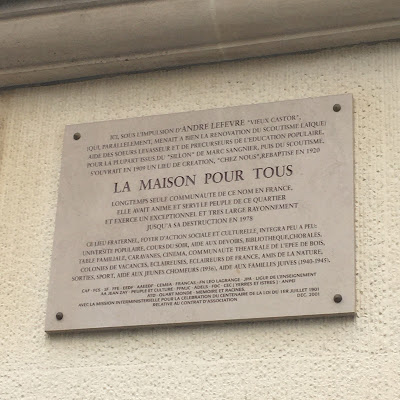 Targa Maison pour tous Rue Mouffetard