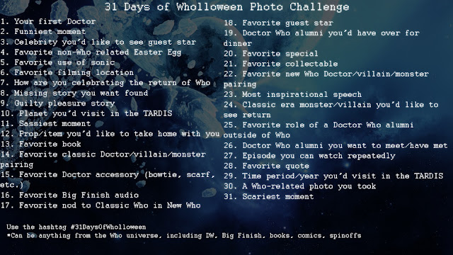 31 Days of Wholloween Photo Challenge